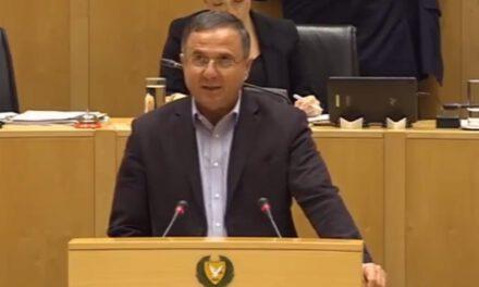 Ομιλία του Προέδρου του Κινήματος Οικολόγων – Συνεργασία Πολιτών, Βουλευτή κ. Γιώργου Περδίκη στην Ολομέλεια της Βουλής των Αντιπροσώπων