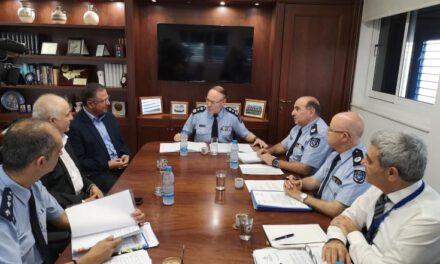 Συνάντηση Προέδρου Κινήματος Οικολόγων – Συνεργασία Πολιτών κ. Γιώργου Περδίκη με Αρχηγό Αστυνομίας