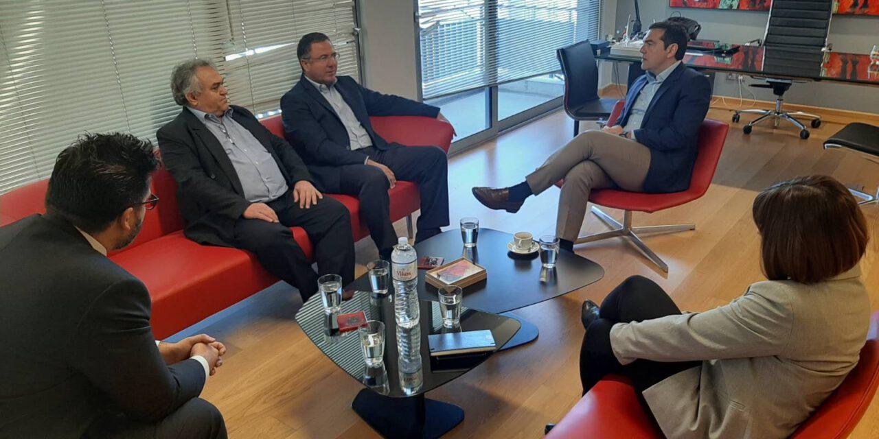 Συνάντηση Προέδρου Κινήματος Οικολόγων κ. Γιώργου Περδίκη με πρόεδρο ΣΥΡΙΖΑ κ. Αλέξη Τσίπρα
