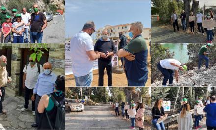Δράσεις των Οικολόγων απλώθηκαν σε όλες τις επαρχίες της ελεύθερης Κύπρου. «Είμαστε παντού»