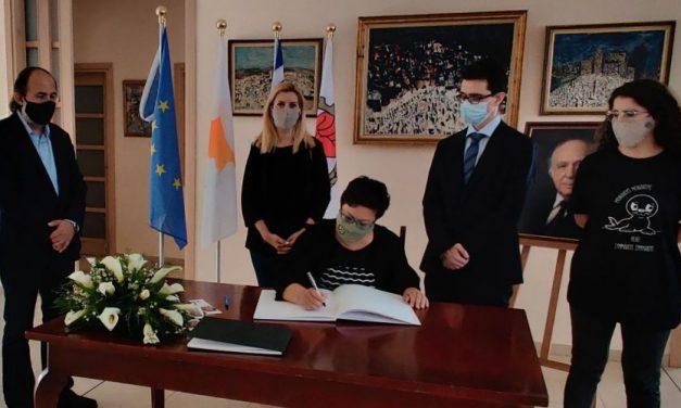 Αντιπροσωπεία του Κινήματος Οικολόγων – Συνεργασία Πολιτών υπέγραψε το βιβλίο συλλυπητηρίων για τον Βάσο Λυσσαρίδη