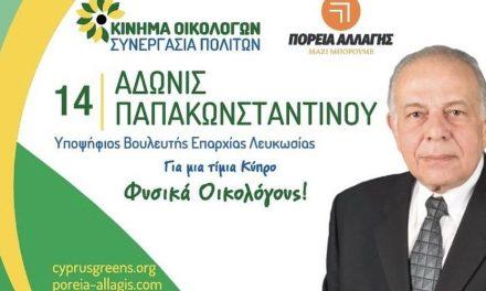 Άδωνις Παπακωνσταντίνου: Εκλογικά Έξοδα Βουλευτικών 2021