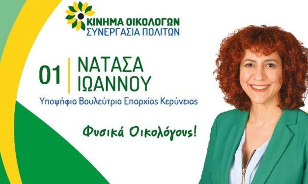 Νατάσα Ιωάννου: Εκλογικά Έξοδα Βουλευτικών 2021
