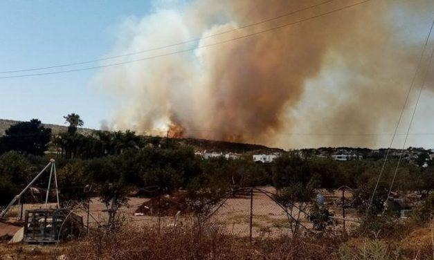 Ανησυχία για την πυρκαγιά στο Πεντάκωμο Λεμεσού